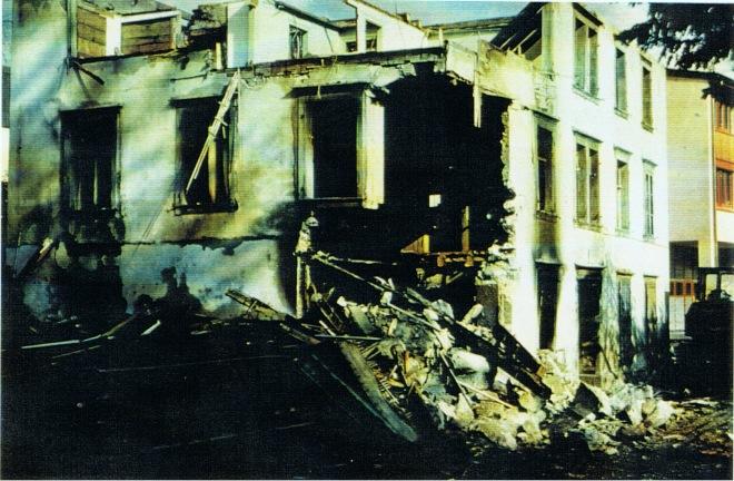 Abbruch altes Schulhaus Morschach 22.10.1979