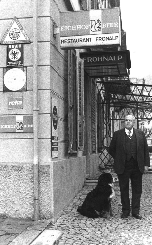 Hotelier und Dorforiginal Franz Greter, Morschach – bis heute unvergessen.  /  Hotelier and village Original Franz Greter, Morschach – unforgotten untiltoday.