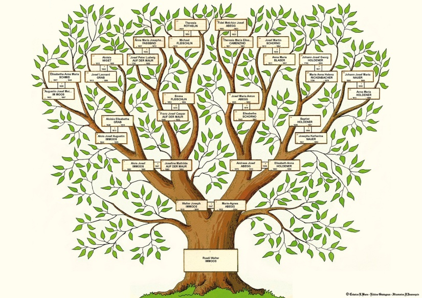 Deszendenz, Aszendenz, Filiation und mehr – genealogische Geheimsprache / Descendants, ancestry, filiation and more – Genealogy secretlanguage