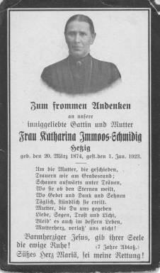 Immoos Katharina Schmidig 1874