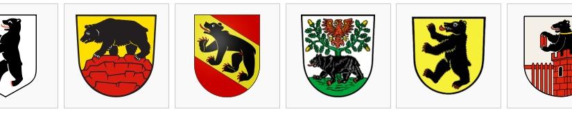 Manche Wappen erzählen Geschichten – wie der Bär im Immoos-Wappen.  /   Some Crest tell stories – like the bear in Immooscrest.