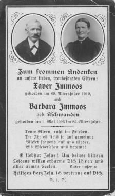 Immoos- Aschwanden Xaver