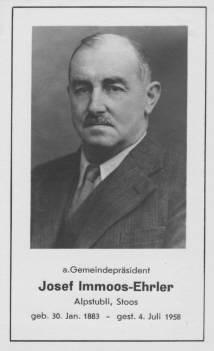 Immoos-Ehrler Josef-Stoos
