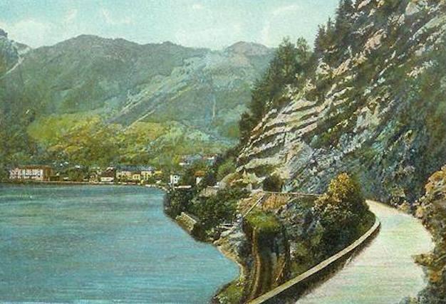 Axenstrasse Postkarte 1900