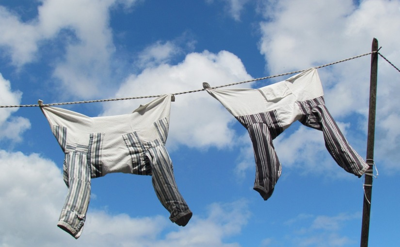 Waschtag in den 50-er Jahren / Wash day in the 50's