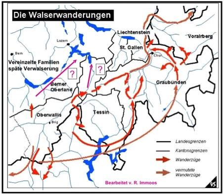 Karte Wanderungen