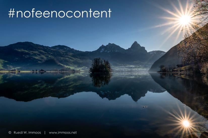#nofeenocontent – ambitionierte Fotografinnen und Fotografen vereinigteuch!